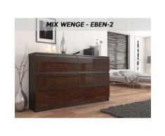 MUNICH 2W | Commode contemporaine chambre salon bureau | 140x77x30 | Dressing 6 tiroirs | Meuble de