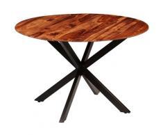 Table de salle à manger Bois massif de Sesham 120 x 77 cm