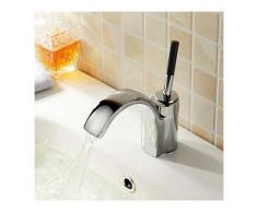 Lookshop - Robinet de lavabo avec mitigeur, style contemporain et finition en métal chromé