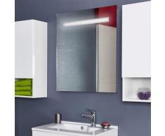 Miroir 70x80 cm - éclairage intégré à LED et interrupteur sensitif - Elegance