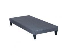 OLYMPE LITERIE | Sommier tapissier en kit | gris ciment | 90x200 cm