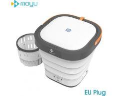 Moyu - Mini Machine A Laver Portable Avec Desinfectant A La Lumiere Uv Laveuse Turbo Pliant La Cuve