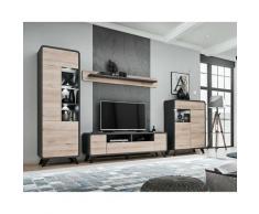 Price Factory - Ensemble de meubles de salon collection OASIS. Style design. - Gris