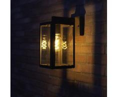 Applique d'extérieur industrielle gris IP44 - Sutton down Rustique Luminaire exterieur IP44 cube