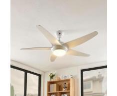 LED Ventilateur de plafond avec lampe 'Ranja' en bois pour salon & salle à manger
