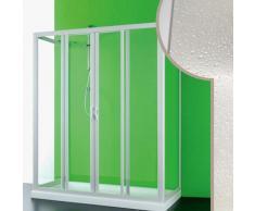Idralite - Cabine douche 3 côtés 80x130x80 CM en acrylique mod. Mercurio 2 avec ouverture centrale