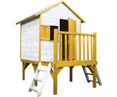 Soulet - Cabane en bois pour enfant sur pilotis 2 échelles - Iloa