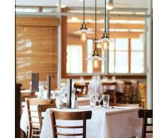Wottes - Lustre Suspension E27 3 Luminaires pour Chambre Cuisine Café Blanc