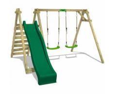 Balançoire FATMOOSE JollyJay Fast XXL Portique pour enfants avec 2 sièges de balançoire, plateforme