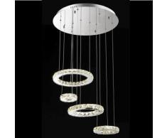 Lustre design cristal LED Goya - 60cm - Argenté / Chromé