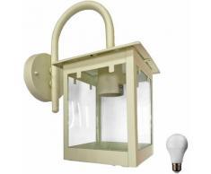 Lampe applique murale extérieure lampe d'éclairage des lampes en verre clair dans l'ensemble, y