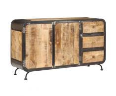 Helloshop26 - Buffet bahut armoire console meuble de rangement 140 cm bois de manguier massif - Bois