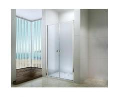Degeo - Porte battante douche en verre trempé 90cm transparente Frisco - Transparent
