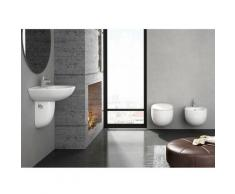 BATA Kit: WC suspendu BATA avec reservoir, abattant amortisseur duroplast. Drainage murale, Bidet