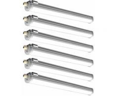 Etc-shop - 6x LED plafond baignoire lumière sous-sol lampe d'atelier garage entrepôt industriel