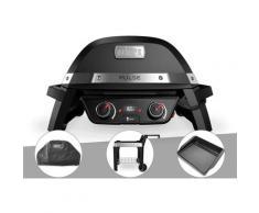 Barbecue électrique Weber Pulse 2000 + Housse + Chariot + Plancha