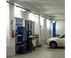 Lot de 5 luminaires à tubes LED 44W pièces humides couloirs plafonniers 4000K tubes sous-sol atelier
