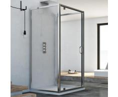 Cabine douche avec 3 côtés 75x100x75 AP. 100 CM H185 trasparent modèle Sintesi Trio avec 1 portillon