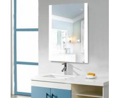 Miroir salle de bain avec eclairage anti-brouillard miroir LED 500*700mm