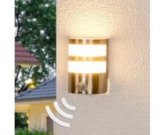 Lindby - LED Lampe Exterieure Detecteur De Mouvement 'Lucja' en inox