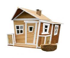 Lisa Maison Enfant en Bois FSC | Maison de Jeux pour l'extérieur / Jardin en marron & blanc |