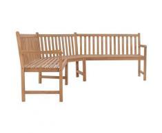 True Deal - Banc d'angle de jardin 202x202x90 cm Teck solide