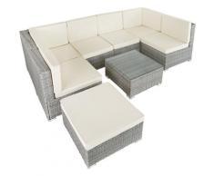 Tectake - Canapé de Jardin VENISE 7 places - table de jardin, mobilier de jardin, fauteuil de