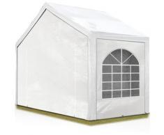 Tente Barnum de Réception 3x2 m PE Bâches amovibles 200-240 g/m² BLANC / Jardin Tonnelle Pavillon
