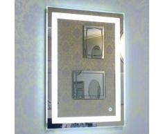 ®Miroir de salle de bain avec éclairage LED Miroir lumineux à LED avec interrupteur d'éclairage