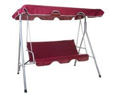 Balancelle HHG-831, balançoire de suspension pour jardin, banc, 3 places, toit réglable 197x185cm ~