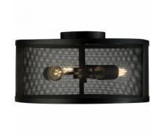 Plafonnier LED, optique cage, noir couleurs, hauteur 21 cm