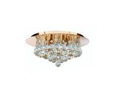 Plafonnier luminaire cristal doré couloir bureau chambre salon salle à manger éclairage
