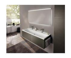 Keramag Xeno 2 Meuble sous-lavabo 807762 1595x350x475mm, texture bois Gris Scultura - 807762000