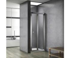 Porte de douche 80x187cm porte de douche pliante