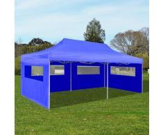 Asupermall - Tente De Reception Pliable Bleue 3 X 6 M