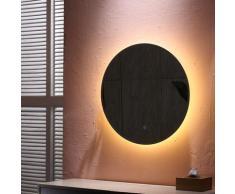 Miroir lumineux pour salle de bain Ø 60 cm à LED avec éclairage tactile anti-buée | Blanc chaud