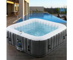 AREBOS In-Outdoor Whirlpool Spa Piscine Massage bien-être Gonflage automatique