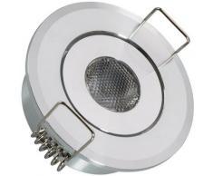Spot Downlight LED Orientable COB Rond 1W Coupe Ø 45mm Blanc Chaud 3000K - Blanc Chaud 3000K