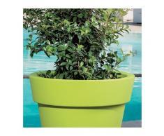 Pot de fleurs plastique Gemma Blanc - Taille 2 - Utilisable en Intérieur et Extérieur. - Blanc