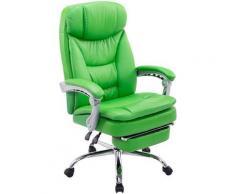 Fauteuil de bureau XL Troy similicuir vert