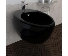 Bidet suspendu en ceramique sanitaire noir