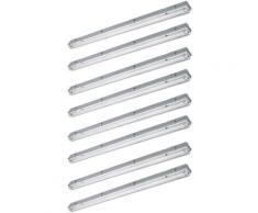 Etc-shop - Lot de 8 spots tubes LED plafonniers garages atelier lampes chambre humide