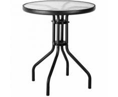 """Table de balcon style """"bistrot"""" Noir 60.00 cm x 60.00 cm x 71.00 cm"""