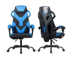 GOPLUS Chaise Gaming de Massage, Chaise Ergonomique Inclinable à 90°-135°, Fauteuil de Bureau avec