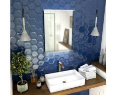 Aurlane - Miroir salle de bain 52x70x5cm avec éclairage LED et étagère