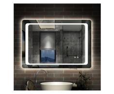 Miroir de salle de bain anti-buée 90x65cm miroir de salle de bain