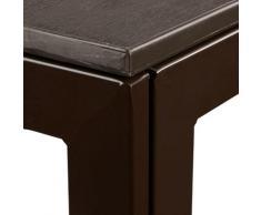 Table jardin carrée à manger, effet optique bois, jardin, balcon, terrasse HlP 74,5x77,5x78cm,