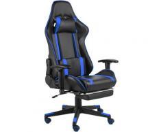 Betterlife - Chaise de jeu pivotante avec repose-pied Bleu PVC1824-A