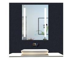 OCEAN Miroir de salle de bain 60x45cm anti-buée miroir mural avec éclairage LED modèle Moderne 2.0