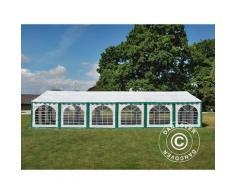 Tente de réception Exclusive 6x12m PVC, Vert/Blanc